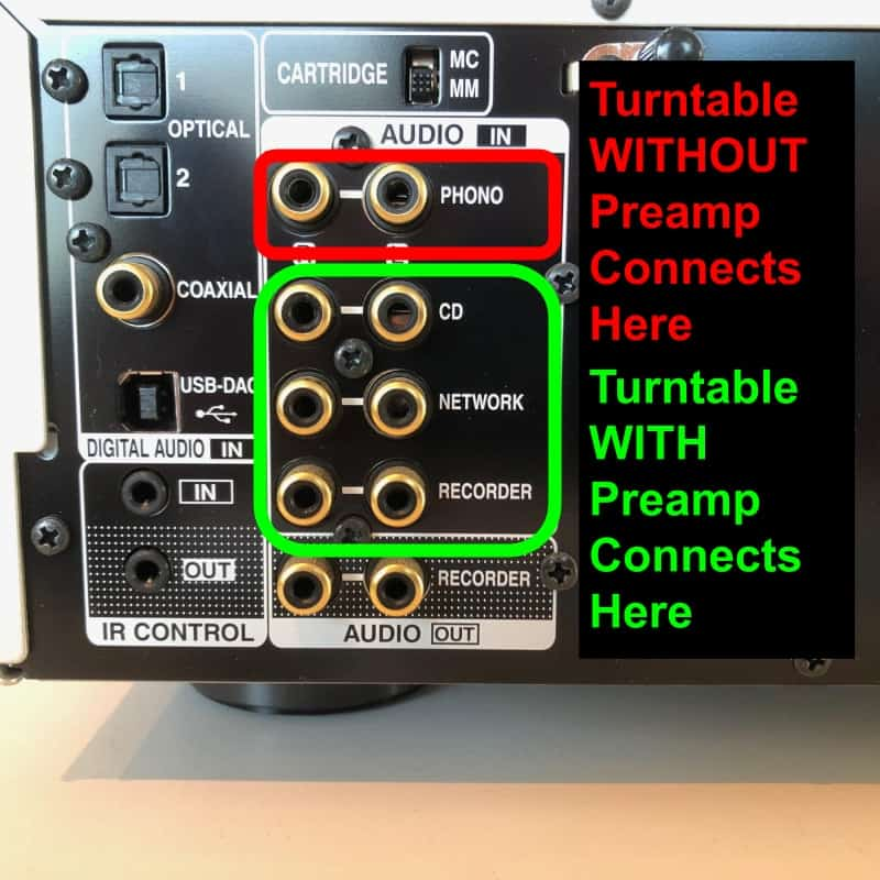 How to Connect a Turntable with a Built-In Preamp